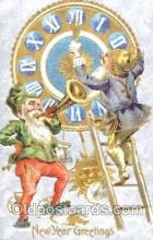 gns001018 - New Years Greetings, Gnomes, Elves, Postcard Post Card