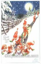 gns001038 - Artist Curt Nystrom, Gnomes, Elves, Postcard Post Card