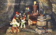gns001062 - Moonshine Still in Rock City Gardens, lookout Mountain, Gnomes, Elves, Fairy, Faries, Postcard Post Card