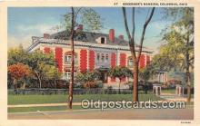 gom001006 - Governor's Mansion Columbus, Ohio, USA Postcards Post Cards Old Vintage Antique