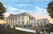 gom001008 - Governor's Mansion Baton Rouge, LA, USA Postcards Post Cards Old Vintage Antique