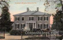 gom001010 - Governor's Mansion Richmond, VA, USA Postcards Post Cards Old Vintage Antique