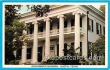 gom001015 - Governor's Mansion Austin, Texas, USA Postcards Post Cards Old Vintage Antique