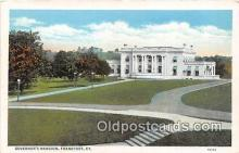 gom001016 - Governor's Mansion Frankfort, KY, USA Postcards Post Cards Old Vintage Antique