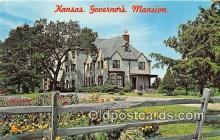 gom001019 - Kansas Governor's Mansion Topeka, Kansas, USA Postcards Post Cards Old Vintage Antique