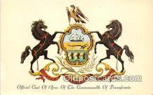 gom001032 - Office Coat of Arms of the Commonwealth of Pennsylvania Pennsylvania, USA Postcards Post Cards Old Vintage Antique