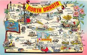 gre000012 - North Dakota, USA Postcards Post Cards Old Vintage Antique