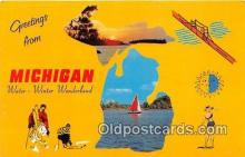 gre000028 - Michigan, USA Postcards Post Cards Old Vintage Antique