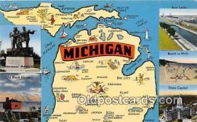gre000030 - Michigan, USA Postcards Post Cards Old Vintage Antique
