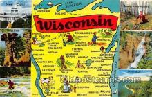 gre000114 - Wisconsin, USA Postcards Post Cards Old Vintage Antique
