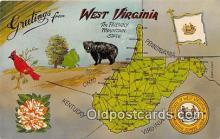 gre000117 - West Virginia, USA Postcards Post Cards Old Vintage Antique