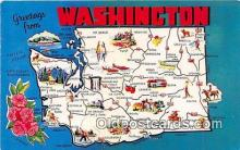 gre000120 - Washington, USA Postcards Post Cards Old Vintage Antique