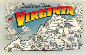 gre000123 - Virginia, USA Postcards Post Cards Old Vintage Antique