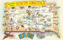 gre000143 - South Dakota, USA Postcards Post Cards Old Vintage Antique