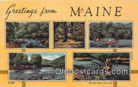 gre000177 - Maine, USA Postcards Post Cards Old Vintage Antique