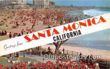 gre000204 - Santa Monica California, USA Postcards Post Cards Old Vintage Antique
