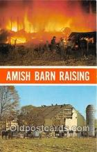gre000243 - Amish Barn Raising Ohio, USA Postcards Post Cards Old Vintage Antique