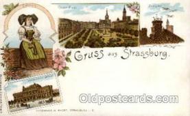 gsa001005 - Strassburg Gruss Aus, Postcard Post Card