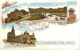 gsa001007 - Trassburg Gruss Aus, Postcard Post Card