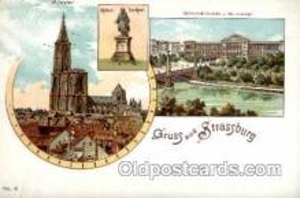 gsa001009 - Strassburg Gruss Aus, Postcard Post Card