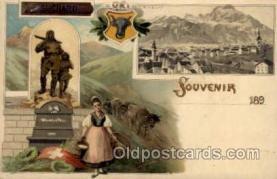 gsa001018 - Suchard Gruss Aus, Postcard Post Card