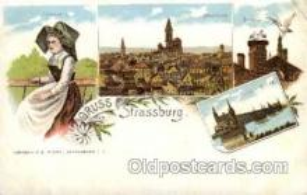 gsa001019 - Strassburg Gruss Aus, Postcard Post Card