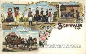 gsa001075 - Gruss Von der Schwalm Postcard Post Card