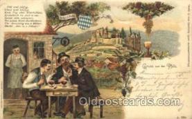 gsa001077 - Gruss Aus der Pfalz Postcard Post Card