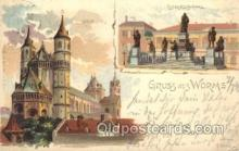 gsa001093 - Gruss Aus Worms Postcard Post Card