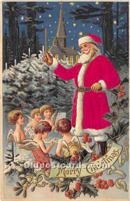 hol000108 - Santa Claus Postcard Old Vintage Christmas Post Card