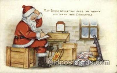 hol000314 - Publisher Whitney Santa Claus Postcard Post Cards