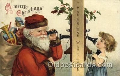 hol000361 - Ellen Clapsaddle, Santa Claus Postcards Post Card