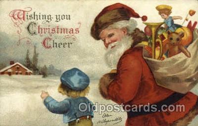 hol000362 - Ellen Clapsaddle, Santa Claus Postcards Post Card
