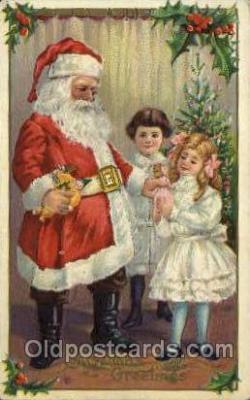 hol000424 - Santa Claus Postcards Post Card