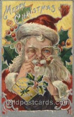 hol000461 - Artist Nash Santa Claus Postcards Post Card