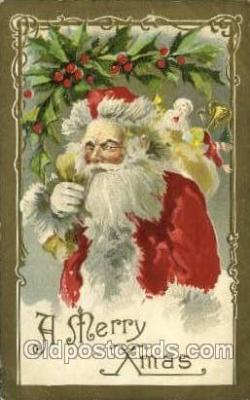 hol000529 - Winsch publishing Santa Claus Postcards Post Card