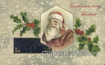 hol000597 - John Winsch Santa Claus Old Vintage Antique Postcard Post Card