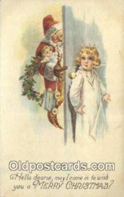 hol000648 - Santa Claus Old Vintage Antique Postcard Post Card