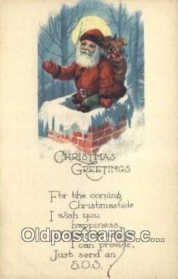 hol000678 - Santa Claus Old Vintage Antique Postcard Post Card