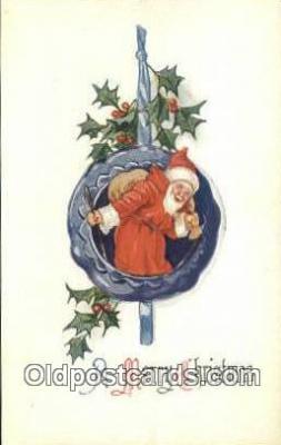 hol000737 - Santa Claus Old Vintage Antique Postcard Post Card