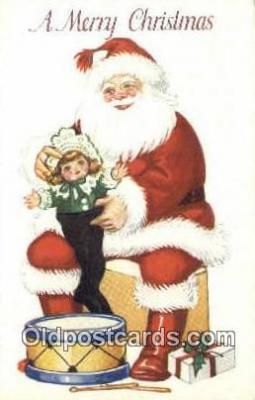 hol000738 - Santa Claus Old Vintage Antique Postcard Post Card