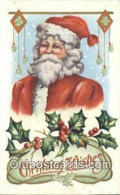 hol000741 - Santa Claus Old Vintage Antique Postcard Post Card
