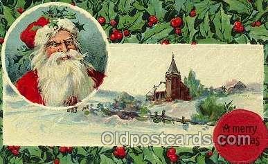 hol001012 - Holiday, Santa Claus, Christmas, Postcard Postcards