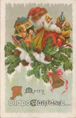 hol001036 - Holiday Santa Claus Christmas Postcard