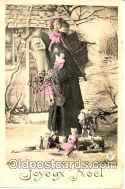 hol001201 - Holiday, Santa Claus, Christmas, Postcard Postcards