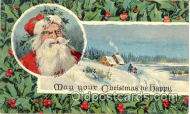 hol001315 - Holiday, Santa Claus, Christmas, Postcard Postcards