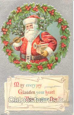 hol001348 - Holiday, Santa Claus, Christmas, Postcard Postcards