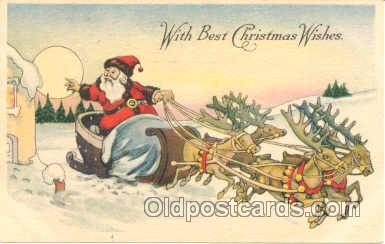 hol001353 - Holiday, Santa Claus, Christmas, Postcard Postcards