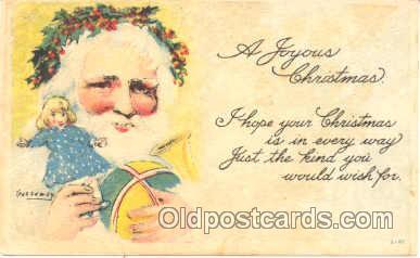 hol001363 - Holiday, Santa Claus, Christmas, Postcard Postcards