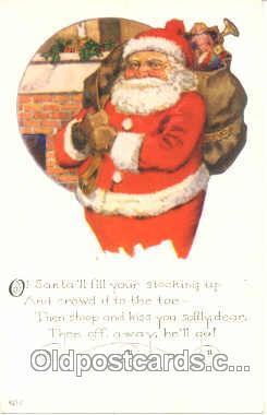 hol001452 - Holiday, Santa Claus, Christmas, Postcard Postcards